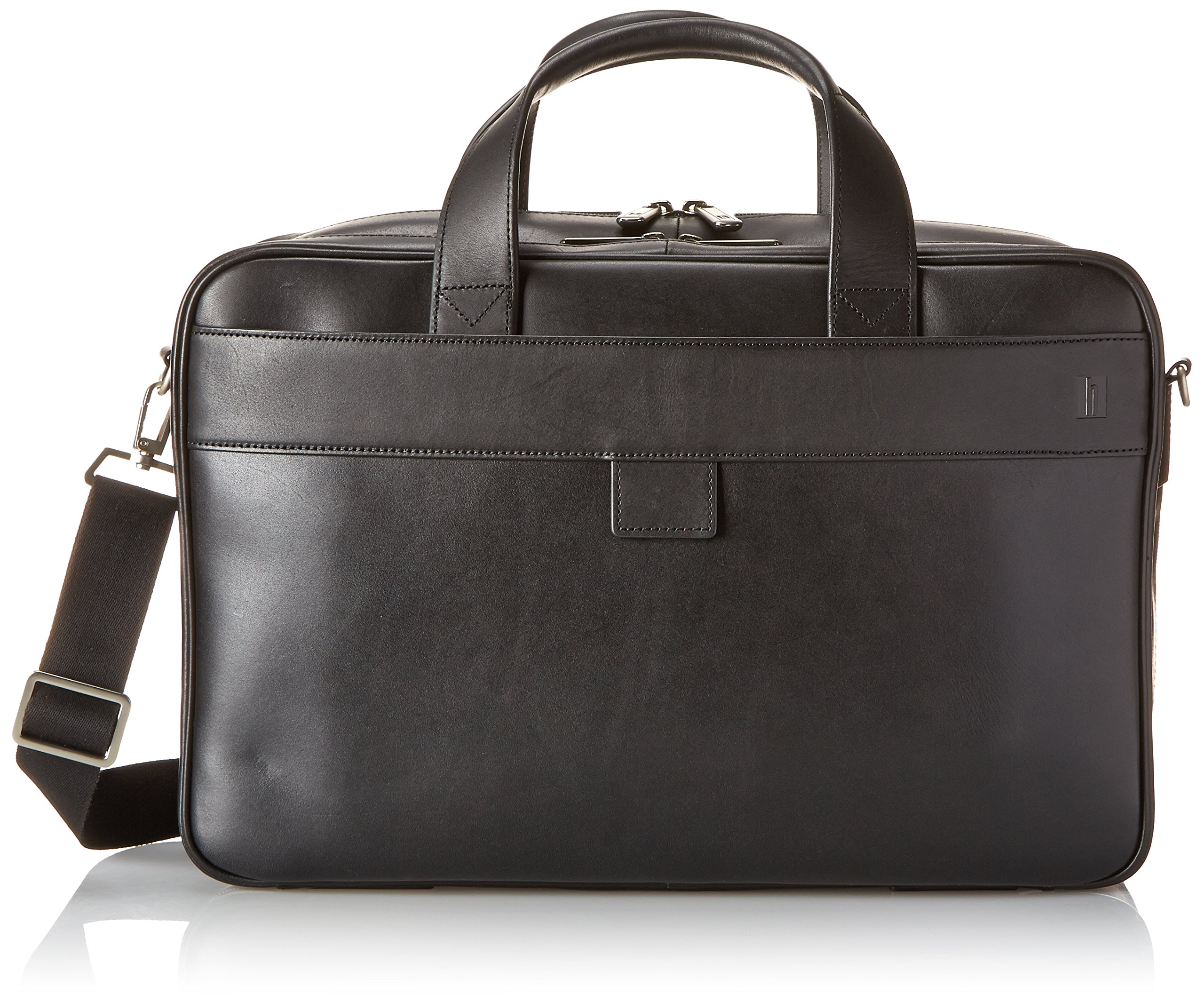 Hartmann Heritage Double Compartment Business Case, Black, One Size