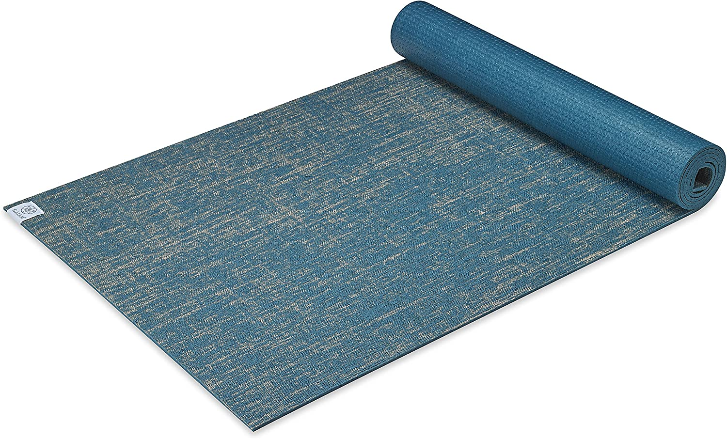Gaiam Yoga Mat Jute Extra Thick Exercise Fitness Mat for All Types of Yoga, Pilates Floor Exercises