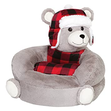 Enjoyable Trend Lab Kids Plush Character Chair Buffalo Check Bear Pabps2019 Chair Design Images Pabps2019Com