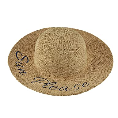 c3a4cbd5 Fashion Culture Women's 'Sun Please' Packable Woven Sun Hat, Natural at  Amazon Women's Clothing store: