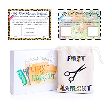 Amazon.com : Babys First Haircut Keepsake with Printable First ...