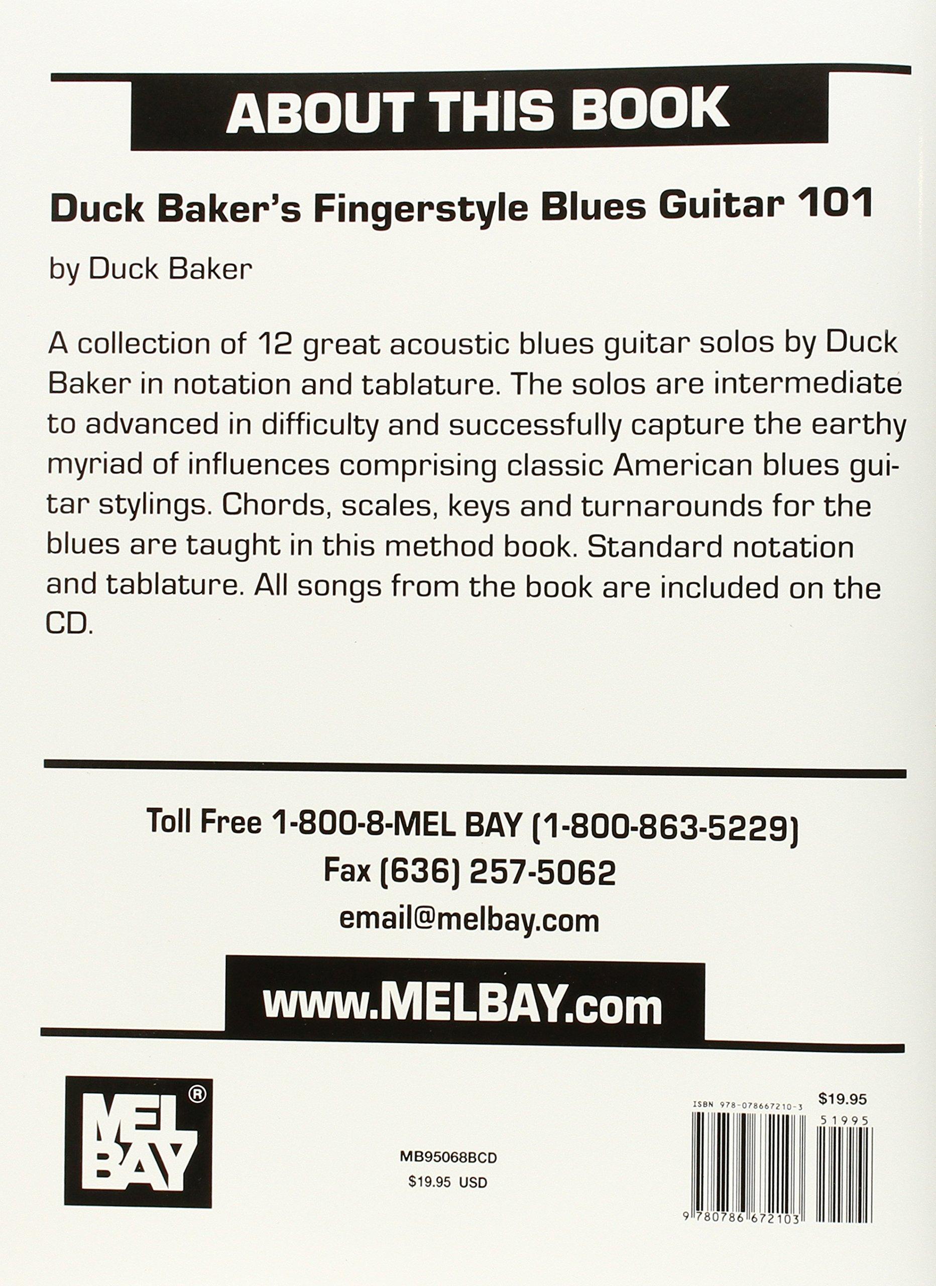 Amazon Mel Bay Duck Bakers Fingerstyle Blues Guitar 101