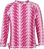 Snapper Rock Girls UPF 50+ Sun UV Protection Long Sleeve Swim Shirt Rash Vest Feather Print For Kids & Teens