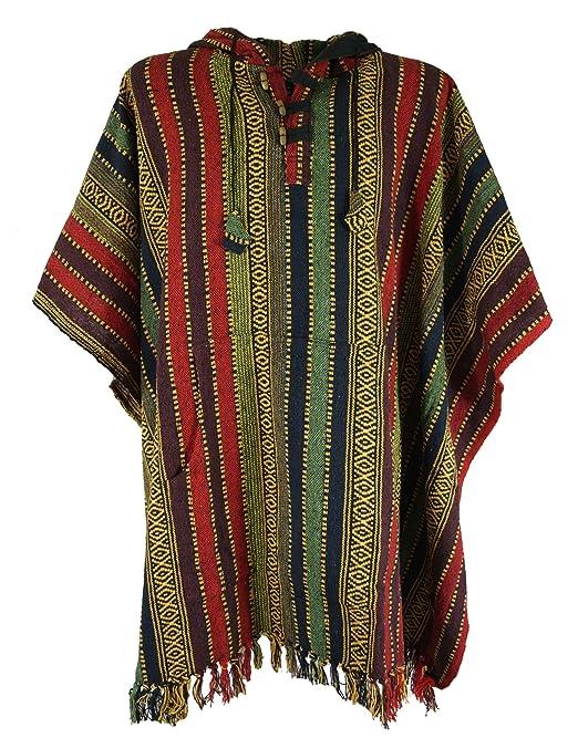 Guru Shop De guru shop poncho hippie chic poncho andino multicolor algodón