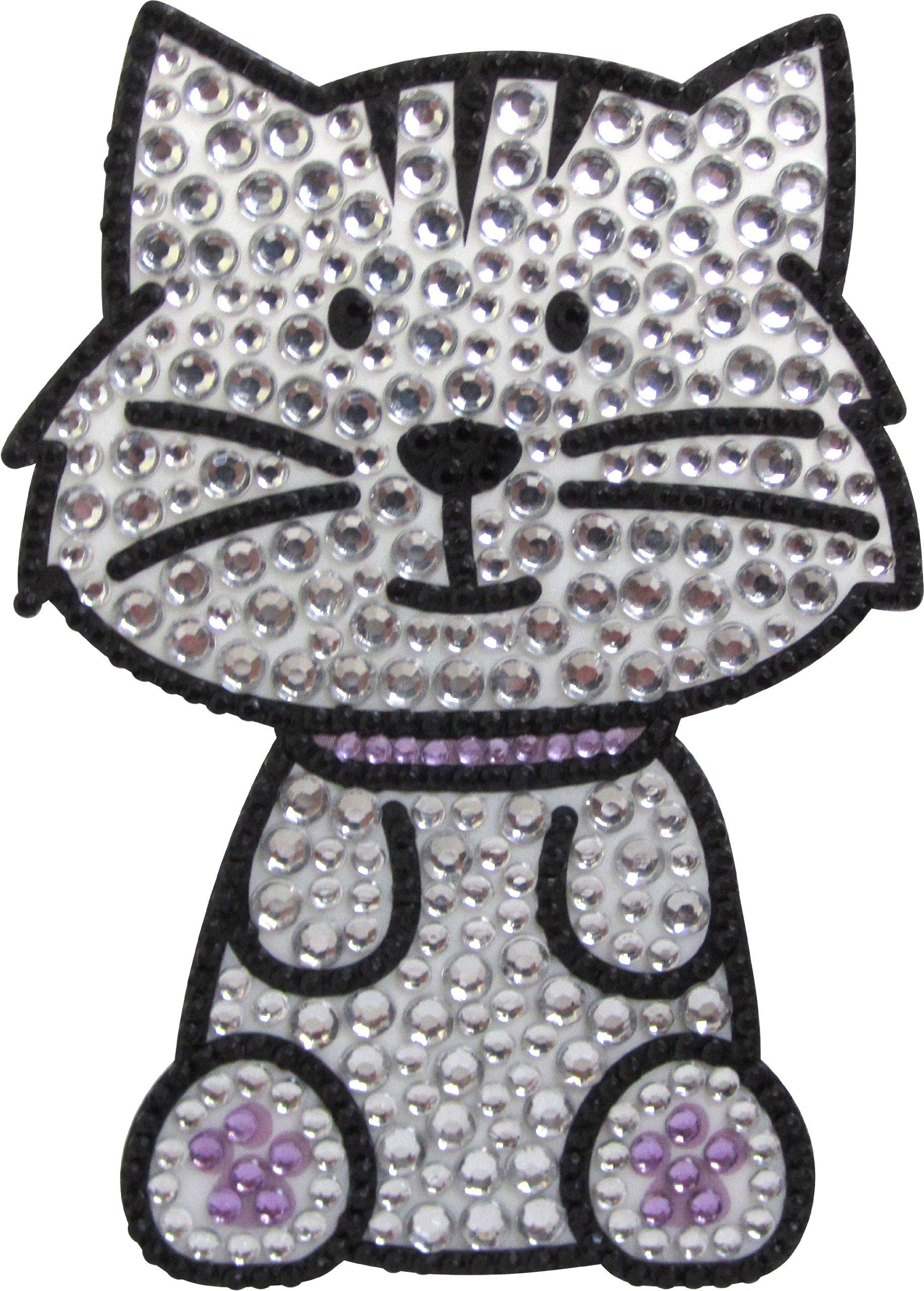 Love Your Breed Rhinestone Sticker, Grey Tabby Cat