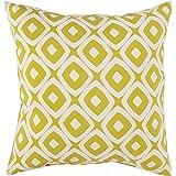 Amazon Brand – Rivet Modern Graphic Outdoor Throw Pillow - 17 x 17 Inch, Acid Green
