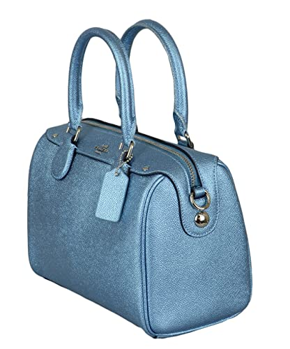 2ab05b4701 Coach Metallic Crossgrain Mini Bennett Satchel Womens Bag (Mini ...