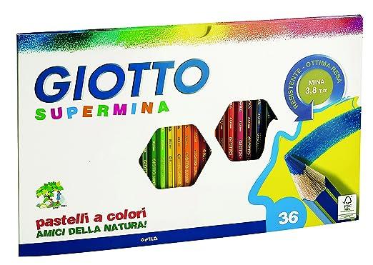 100 opinioni per Giotto Supermina 36 pastelli a colori