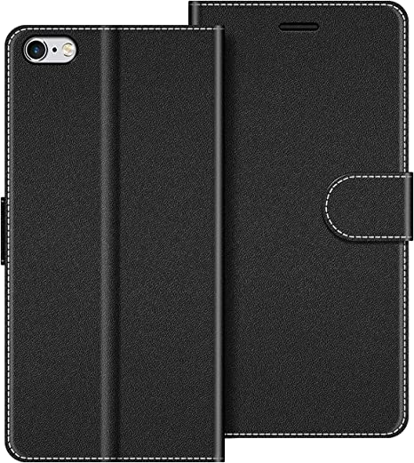 custodia in pelle per iphone 6s - nero
