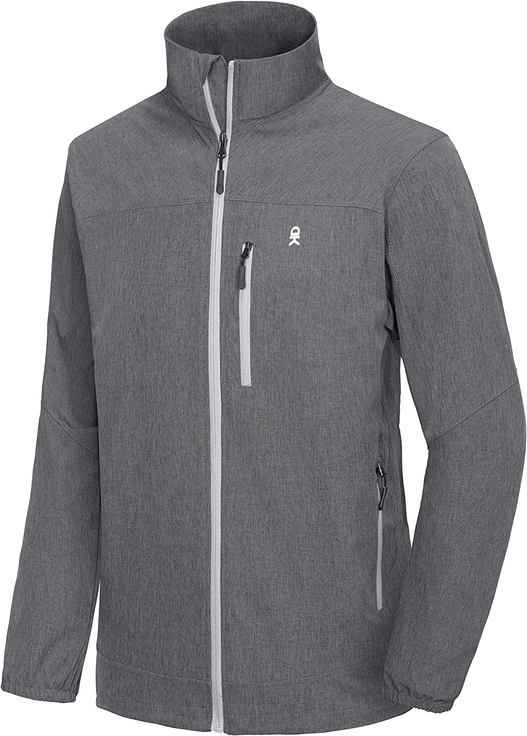 Little Donkey Andy Men's Lightweight Windbreaker, Softshell Jacket with Hood for Running Travel Hiking