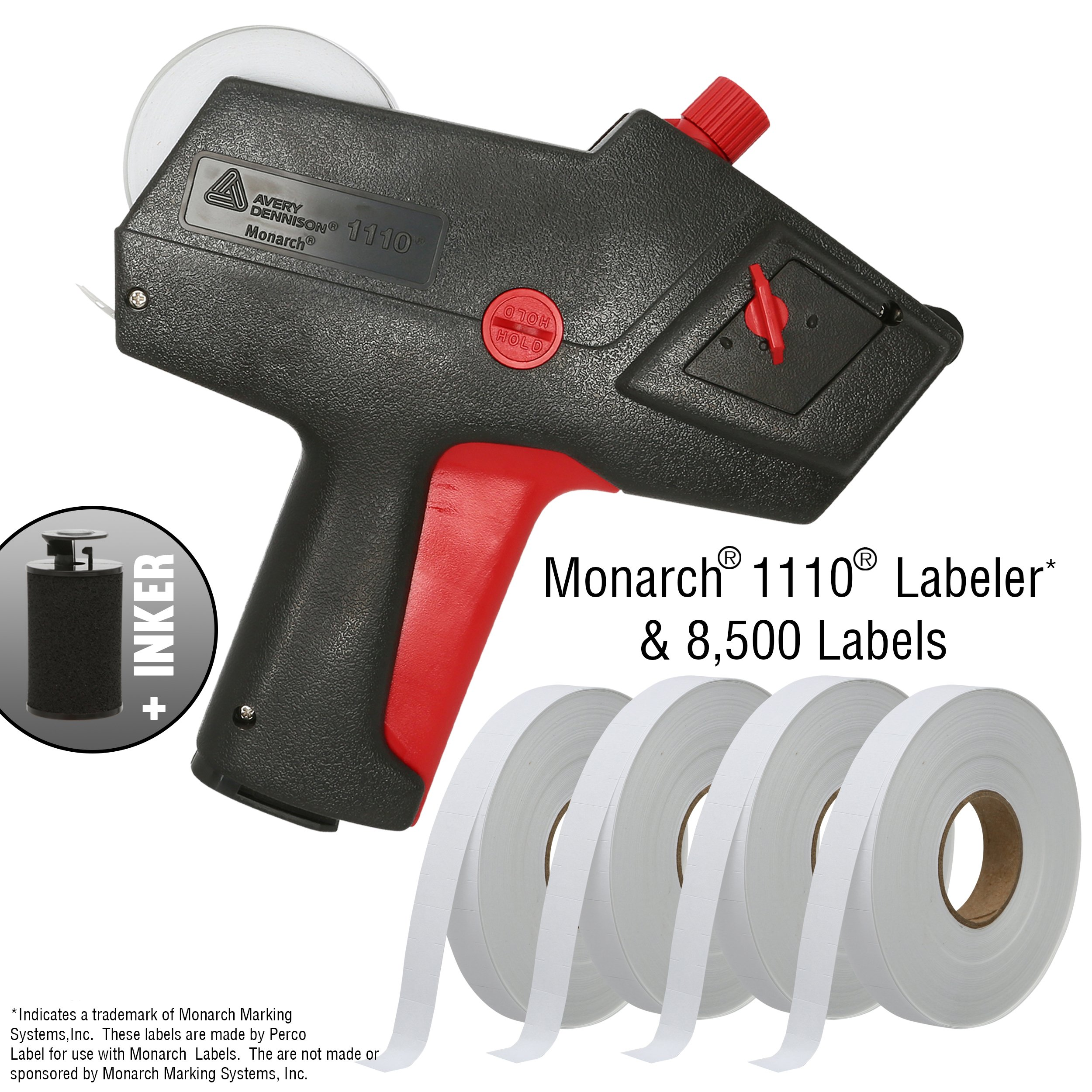 Monarch 1110 Price Gun with Labels Starter Kit: Includes Price Gun, 8,500 White Pricing Labels and Preloaded Inker