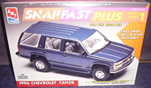 AMT #8236 ERTL 1996 Chevrolet Tahoe Snap Fast Plus 1/25 Scale Plastic Model Kit,Needs Assembly