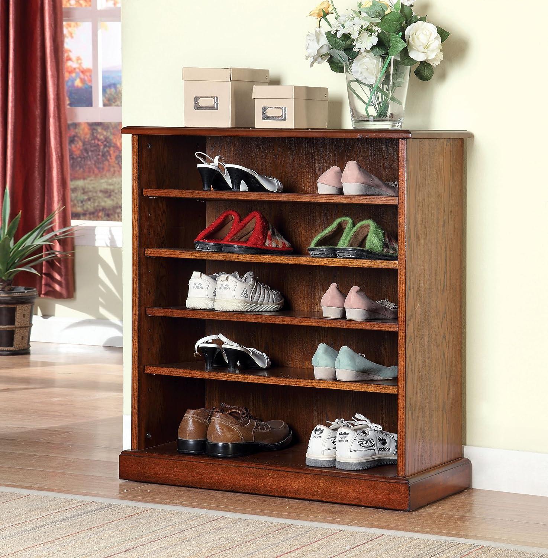 Wonderful Amazon.com: Furniture Of America Laires 5 Shelf Open Shoe Cabinet, Oak:  Kitchen U0026 Dining