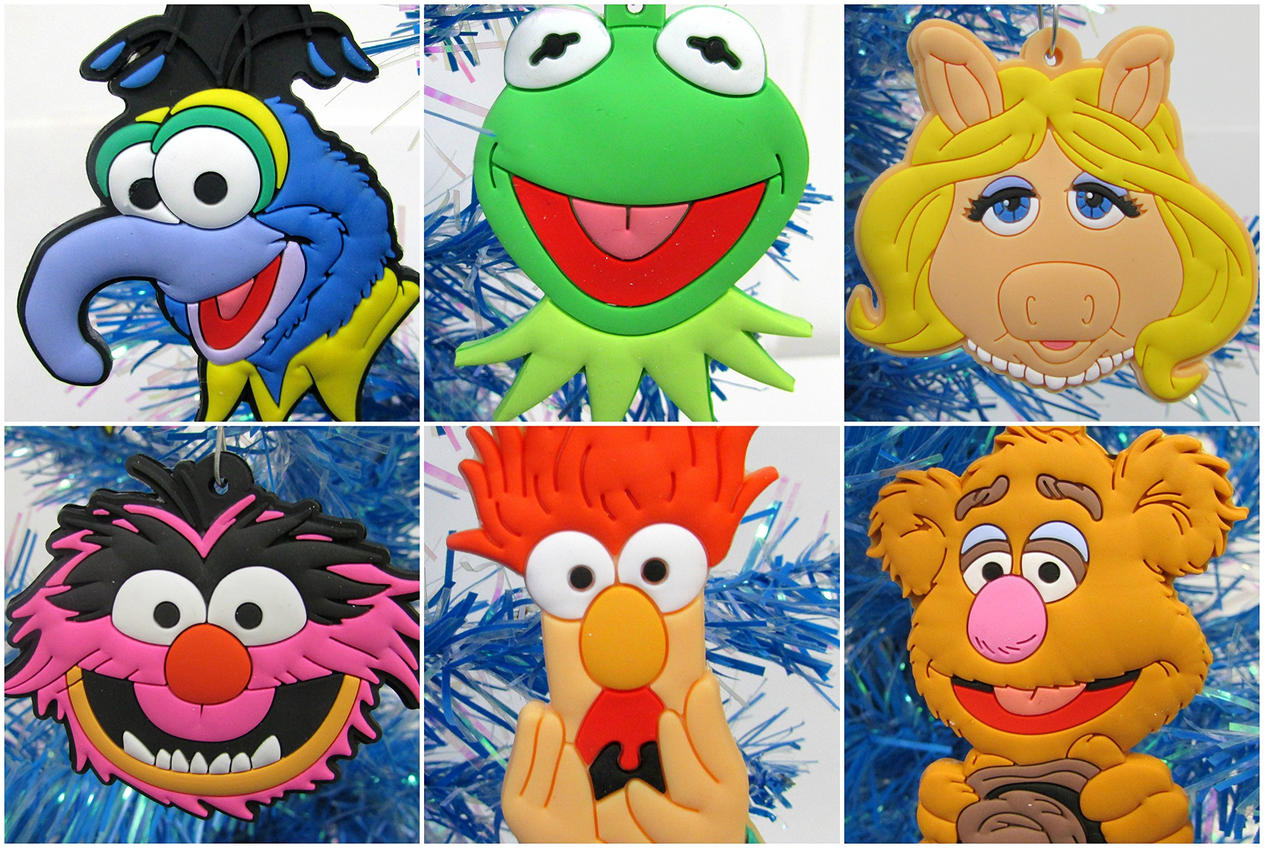 Christmas Tree Ornaments MUPPETS Set Featuring Kermit and Friends - Unique Shatterproof Plastic Design by Christmas Tree Ornaments