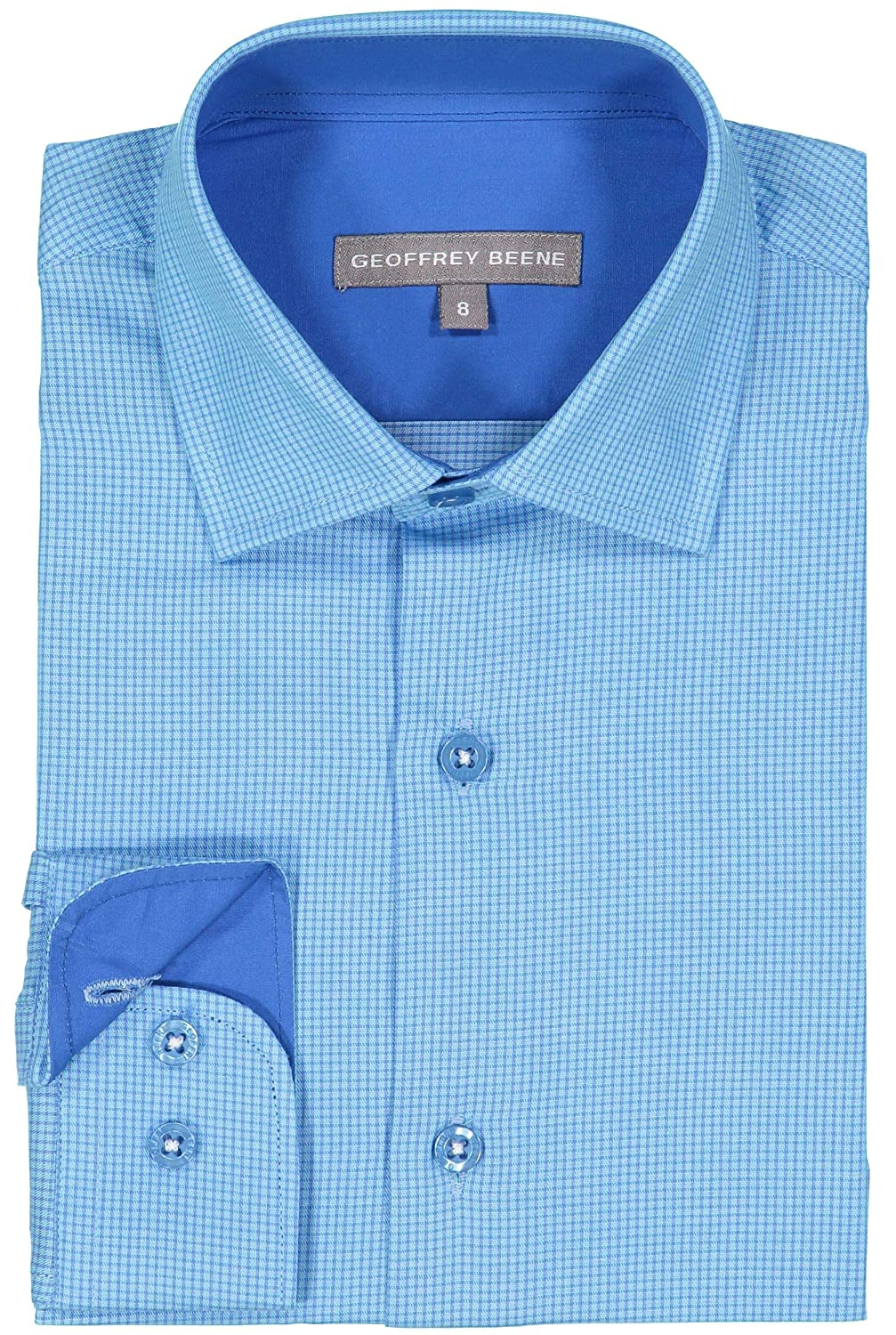 Boys Geoffrey Beene Designer Fashion Dress Shirt - Many Colors and Pattern Available