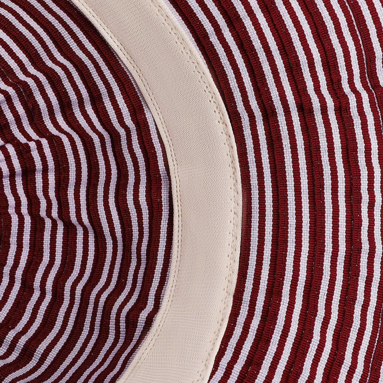 Damen Strandhut Streifen Hut Sonnenhut Sonnenschutz Einstellbar Safari Hut mit Kinnriemen Anglerhut Breite Krempe Sommerhut Faltbar Fischerhut Anti-UV Wanderhut Elegant Schlapphut f/ür Reise Urlaub