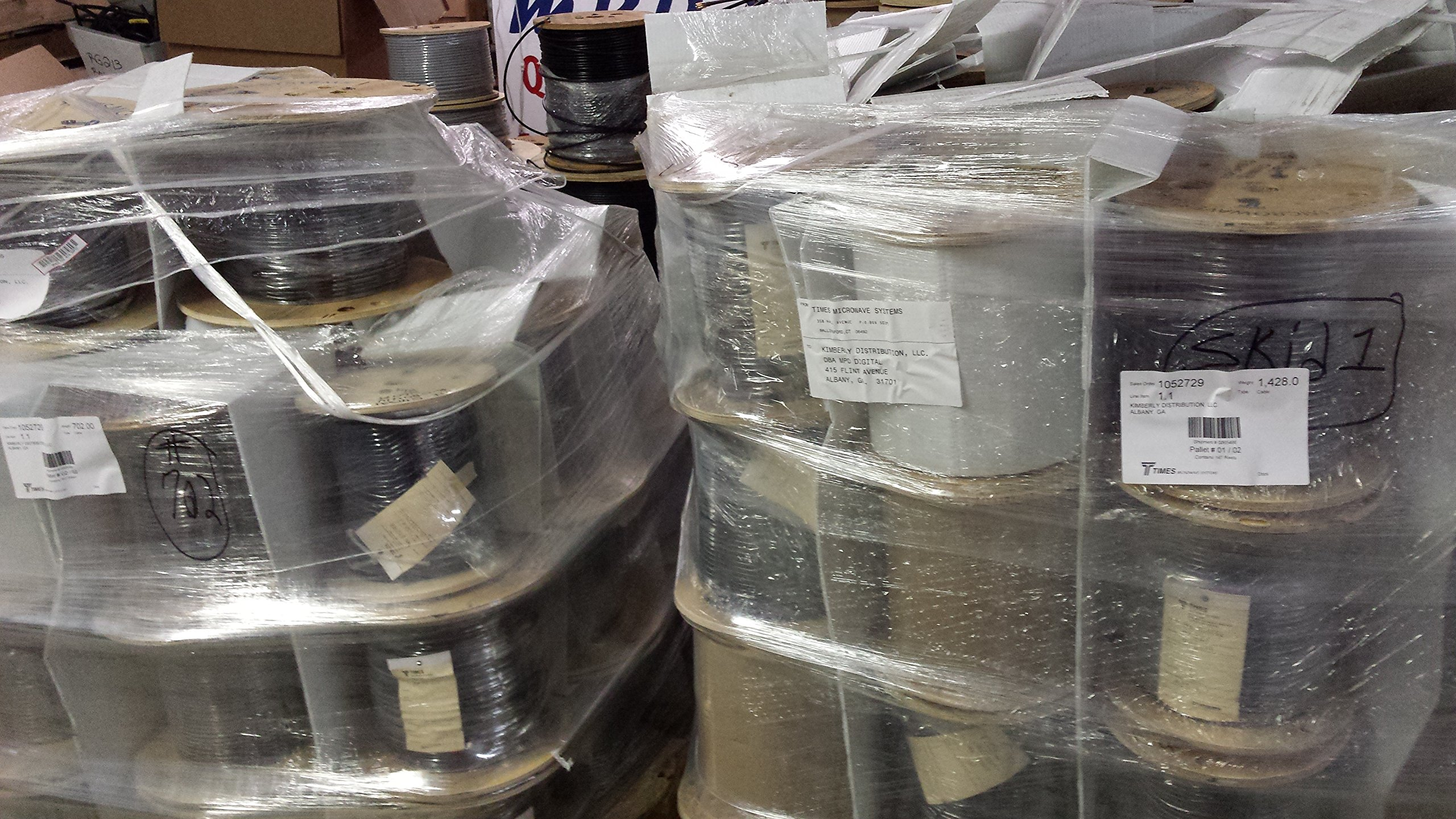 Times Microwave LMR400 Bulk Coaxial Cable Reels | LMR-400 coax on wooden spool Plus MPD Digital (TM) Magnet (350 ft)
