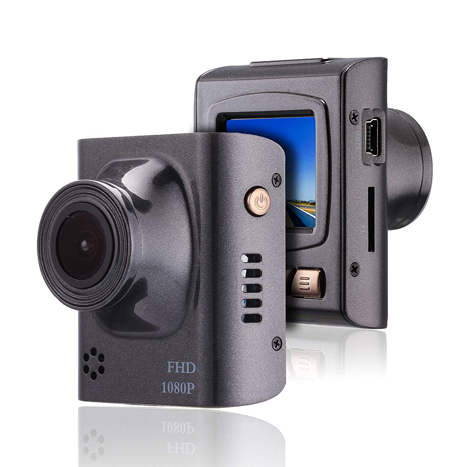 Bvser Dash Cam - 1.5 Inch Compact Design 1080P Ultra HD Driving Recorder Camera, G-Sensor, Motion Detection and Loop Recording (SD Card Not Include)