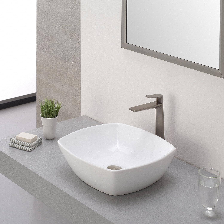 Kraus KEF-15300BN Aplos Single Lever Vessel Bathroom Faucet Brushed ...