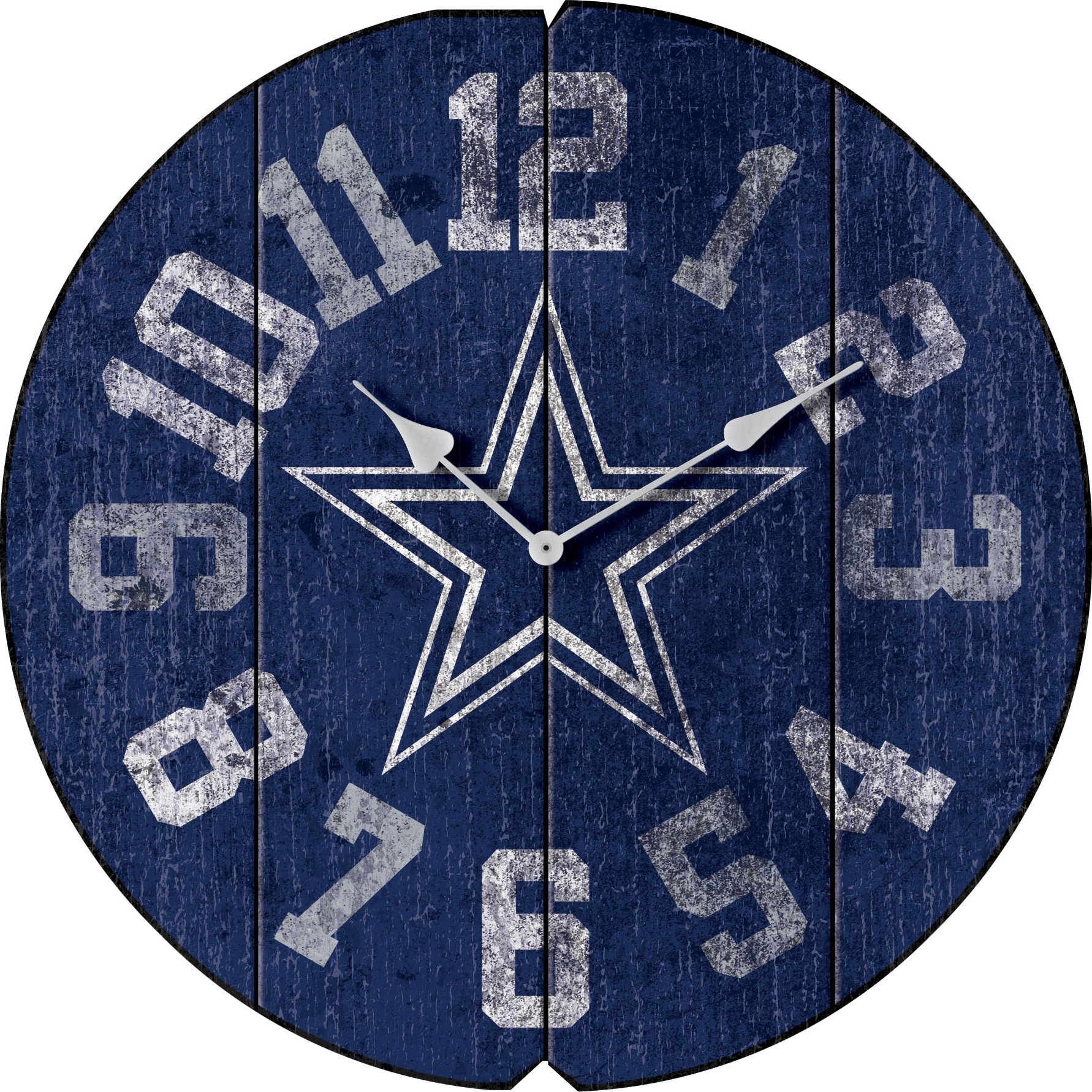 Imperial Officially Licensed NFL Merchandise: Vintage Round Clock, Dallas Cowboys by Imperial