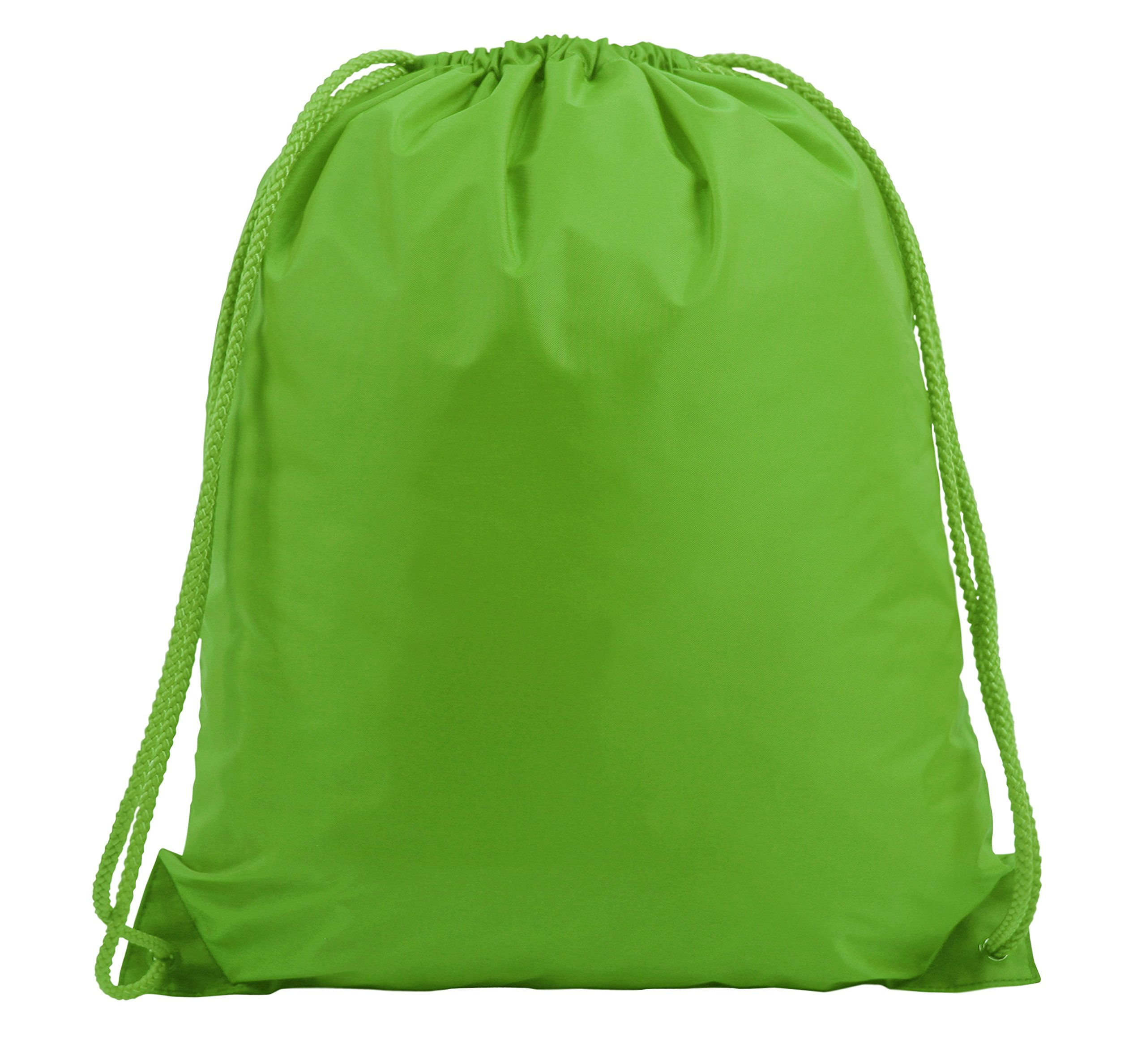 LARGE DRAWSTRING BACKPACK, Lime Green, Case of 60