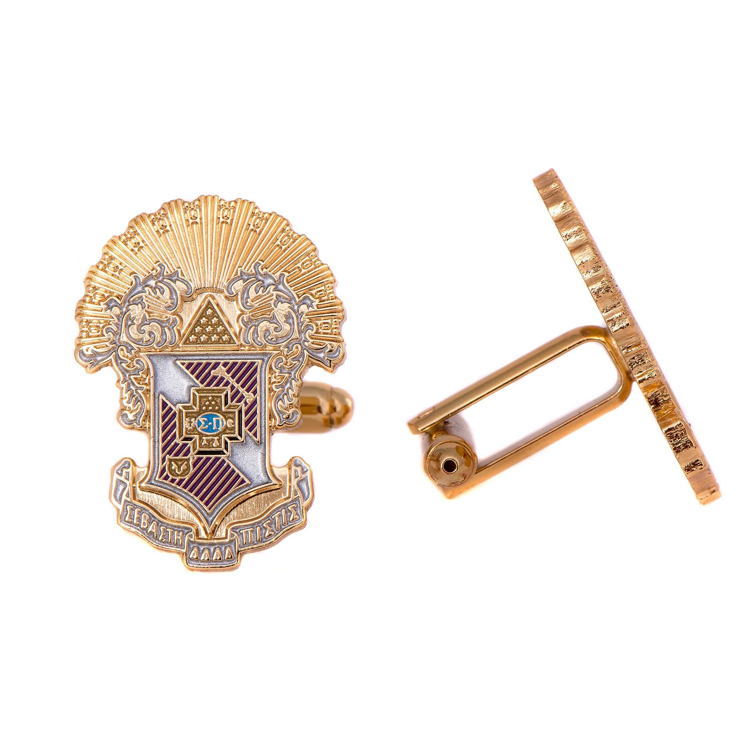 Desert Cactus Sigma Pi Fraternity Crest Cufflinks Greek Formal Wear Blazer Jacket