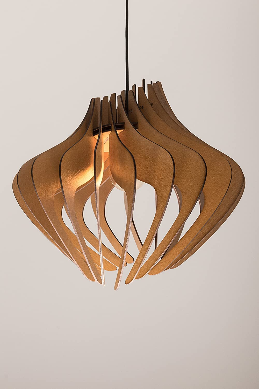 Wood Pendant Light lasercut Chandelier lamp Handmade plywood hanging ceiling cup ecological minimal modern design industrial 81tEj9fHtpL._SL1500_