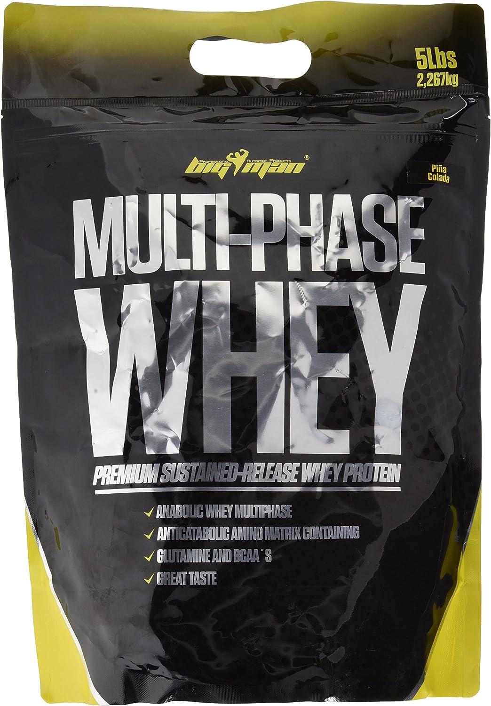 Big Man Nutrition Multi-Phase Whey Complejo de Proteínas, Piña Colada - 2268 gr