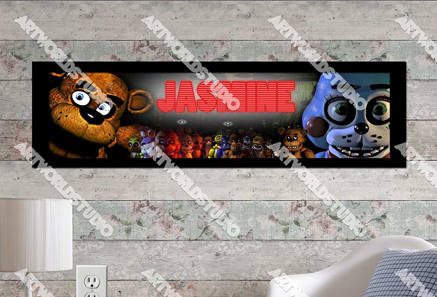 Birthday Five Nights at Freddy/'s Personalized Custom Poster Glossy Banner