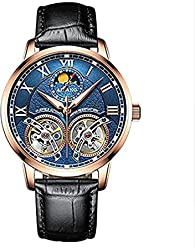 WhatsWatch AILANG Luxury Mens Watches Automatic Double tourbillon Leather Waterproof Sapphire Crystal