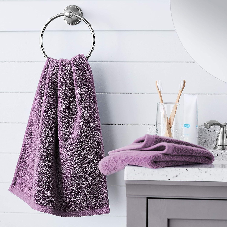 8-Piece Set Ice Blue AQD8SIB Basics Quick-Dry Towels 100/% Cotton