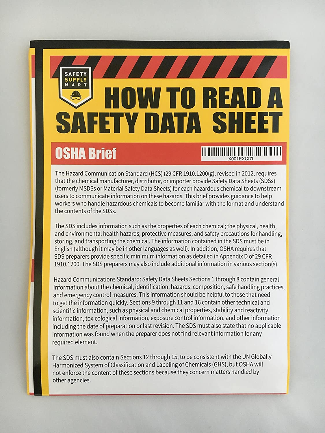 How To Read A Safety Data Sheet (SDS/MSDS) Poster, 24 x 33 Inch, UV ...