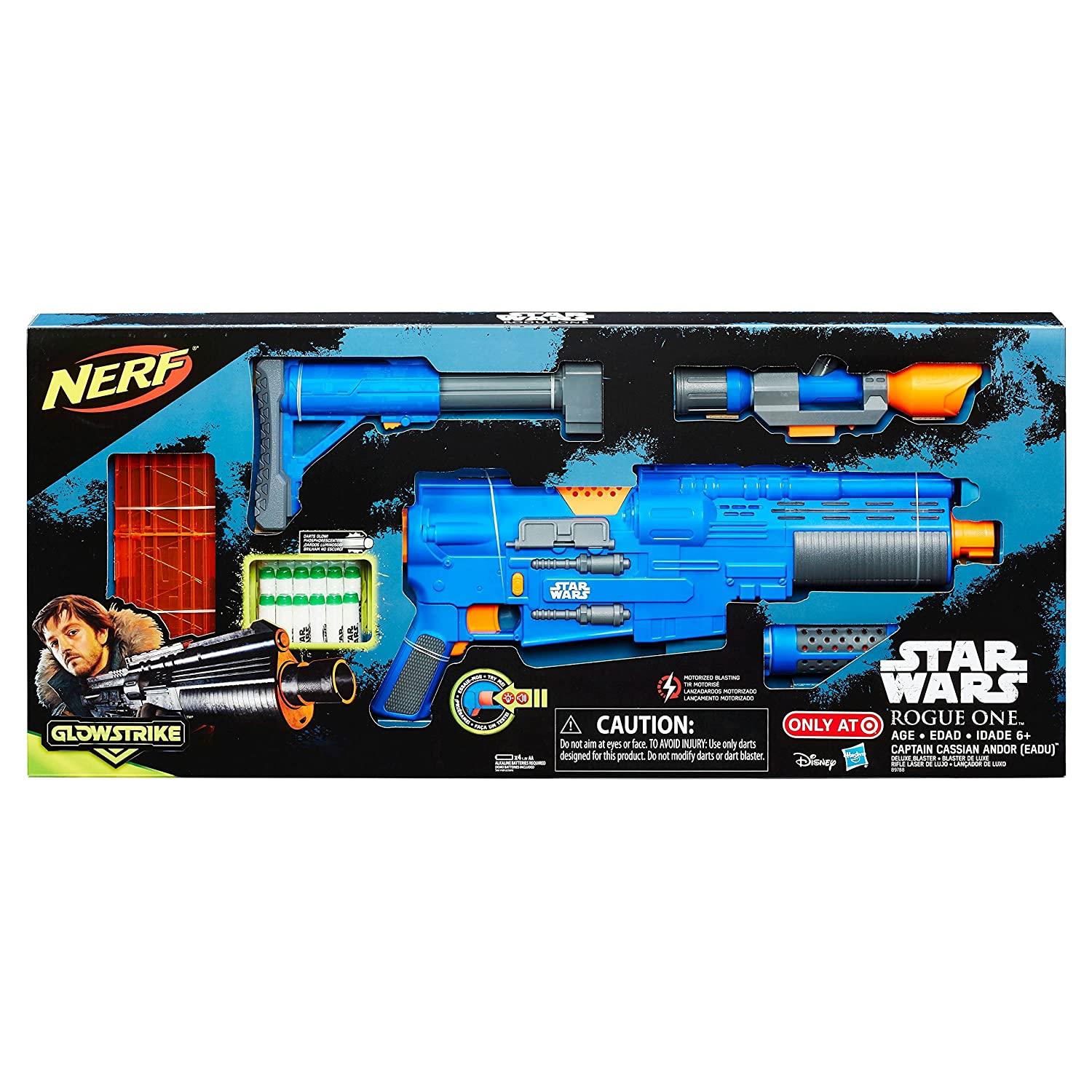 Amazon Star Wars Rogue e NERF Captain Cassian Andor Deluxe Blaster Exclusive Roleplay Toy Toys & Games