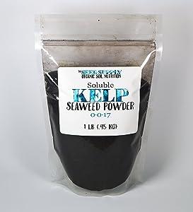 1 Pound Soluble Kelp Seaweed Powder - Plant Root Development and Growth Stimulant 0-0-17 Organic Fertilizer