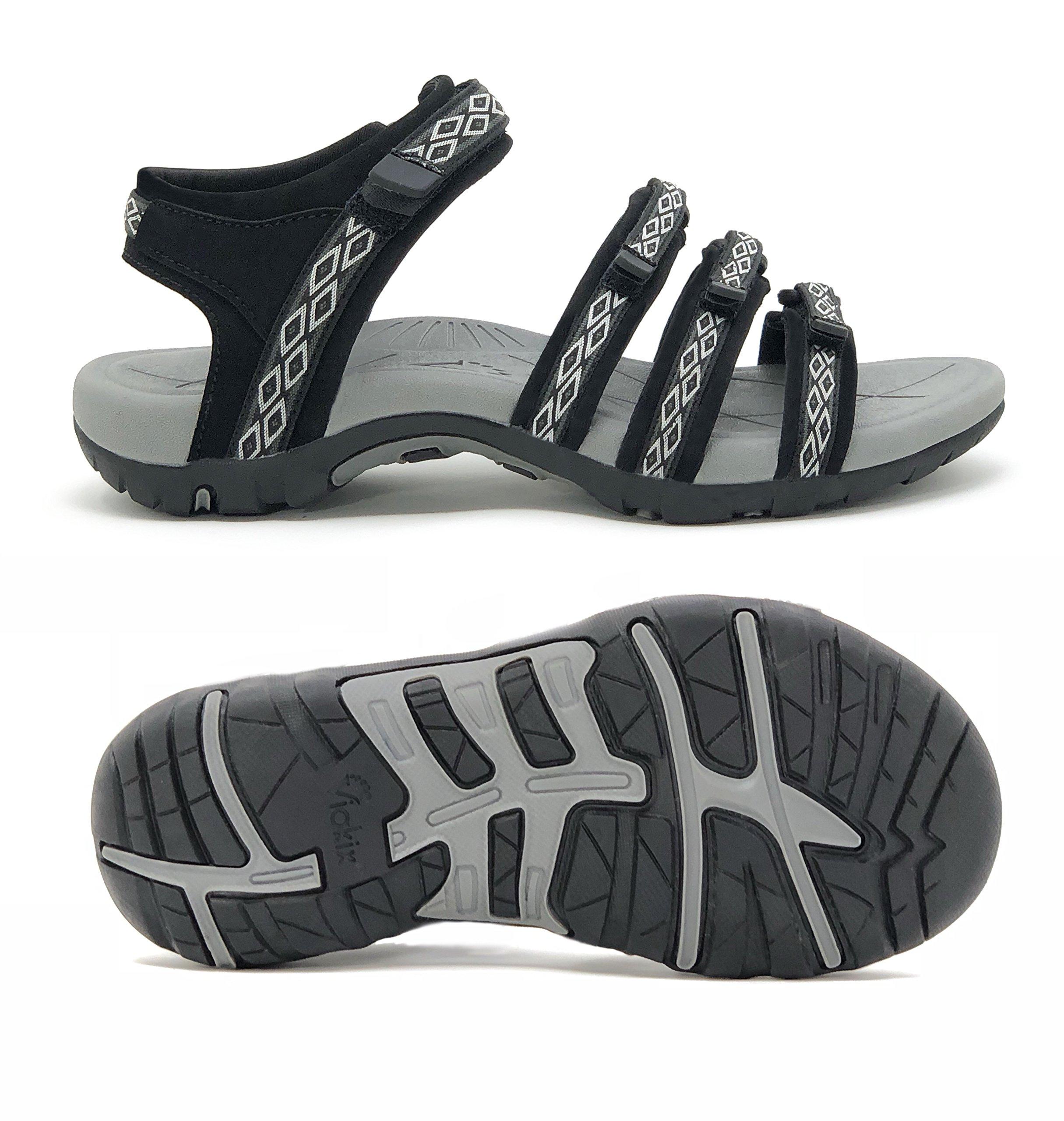 Viakix Hiking Sandals Women- Athletic Sport Sandal for Outdoors Walking Water by Viakix