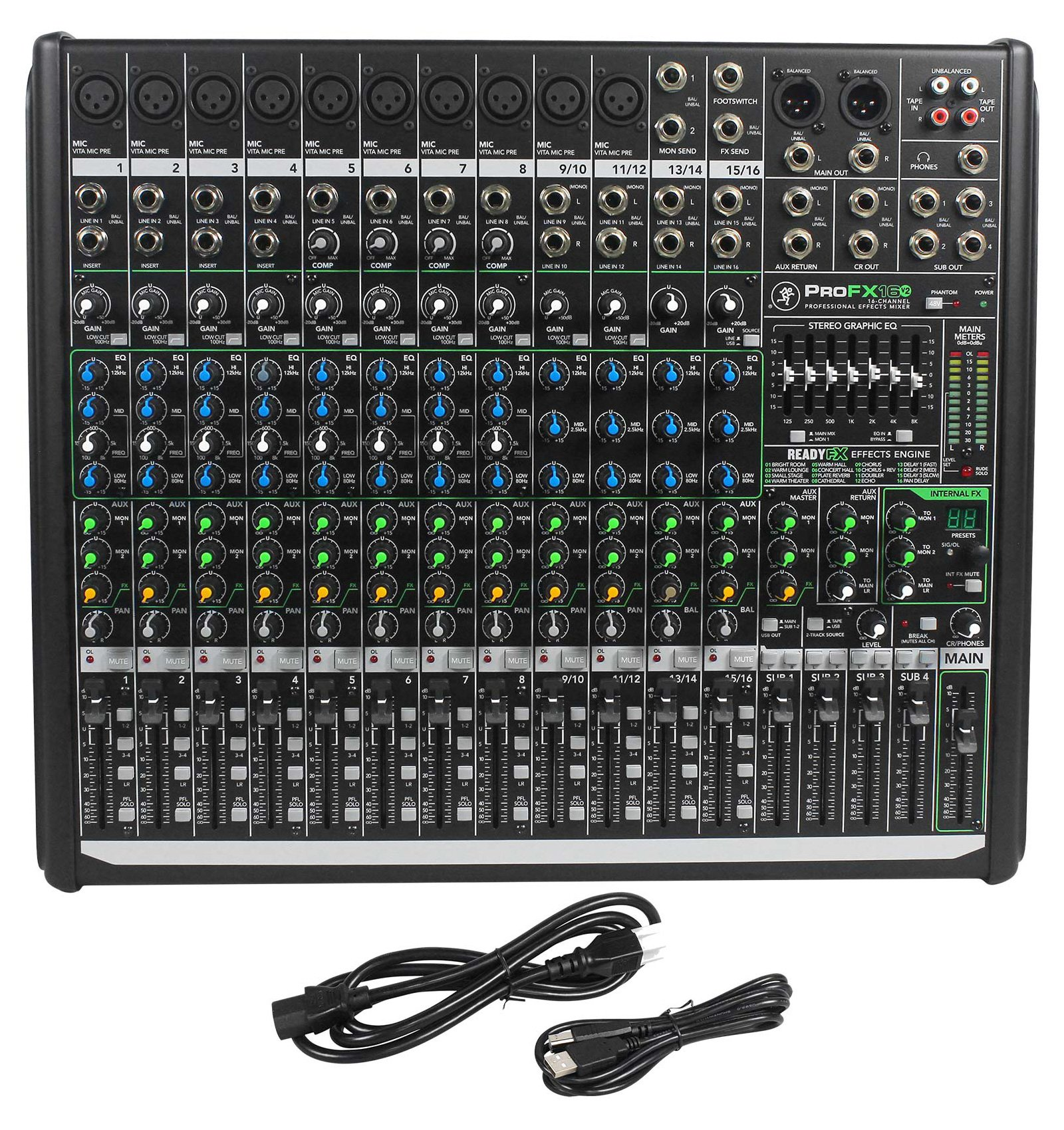 Mackie PROFX16v2 Pro 16 Channel 4 Bus Mixer w Effects and USB PROFX16 V2+Stand by Mackie (Image #2)