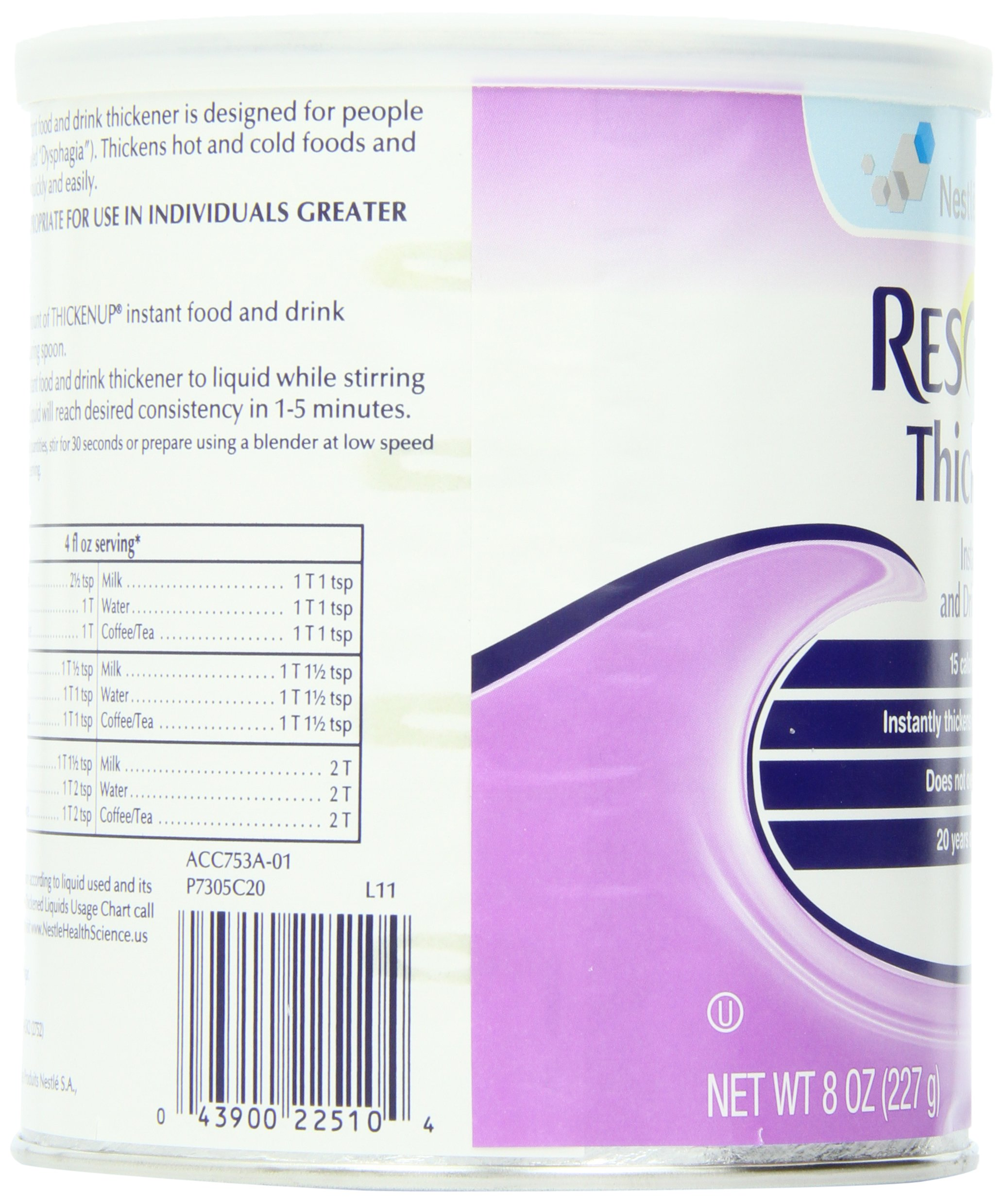 Resource ThickenUp Instant Food & Drink Thickener Powder, Unflavored, 8 Ounce Canister (Pack of 12) by ReSource (Image #7)
