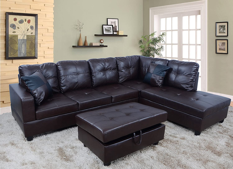 Amazon Com Lifestyle Furniture Urbania Right Hand Facing Sectional