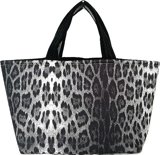 Roberto Cavalli C7J101430230 - Bolso de playa para mujer, algodón, color negro: Amazon.es: Zapatos y complementos