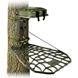 Air Raid Evolution - Cast Aluminum Hang On Tree Stand for Hunting - Deluxe Deer Stand, XOP Green, Platform Dimensions - 21.5
