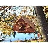 Maison oiseaux, mangeoire osieaux, PRODUIT FRANCAIS, villa oiseaux, nichoir oiseaux, bois de la région, cabane oiseaux, couleur nature, LIVRAISON OFFERTE