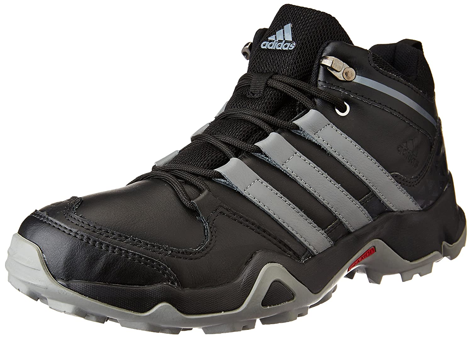 b7719988feee Adidas Men s Iron Trek Leather Black and Visgre Leather Trekking and Hiking  Footwear Shoes - 8 UK India (42 EU)  Buy Online at Low Prices in India -  Amazon. ...