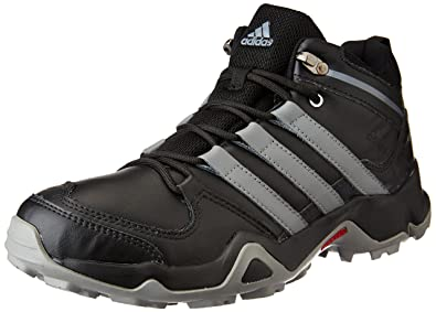 adidas Men's Iron Trek Leather Black and Visgre Leather Trekking and Hiking  Footwear Shoes - 6