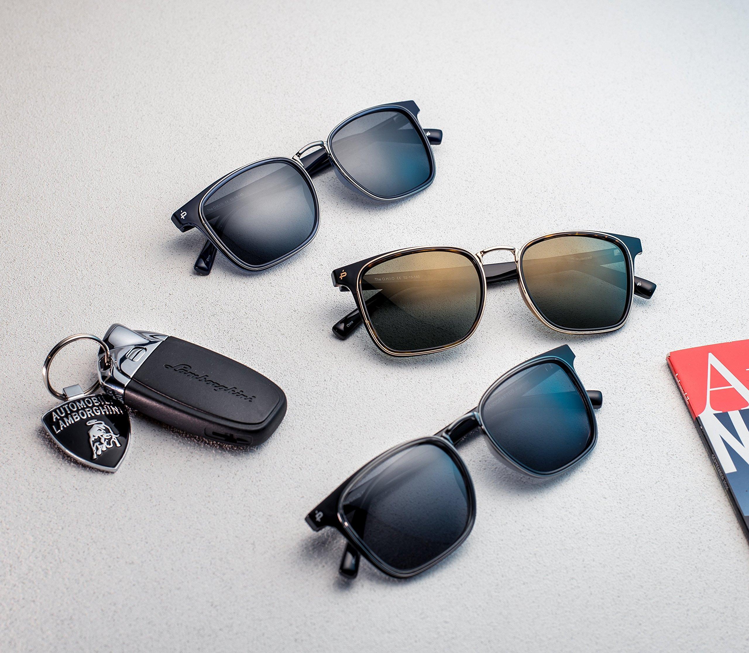 PRIVÉ REVAUX Places We Love Collection''The O.H.I.O'' Polarized Designer Square Sunglasses RandM Colab by PRIVÉ REVAUX (Image #3)