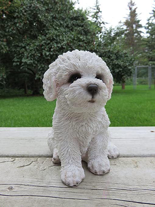 Collectible Figurine Statue Figure Sculpture Puppy Bichon Frise Dog