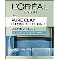 L'Oreal Paris 巴黎欧莱雅 含3种粘土和海藻精华 除瑕疵面膜,50 毫升