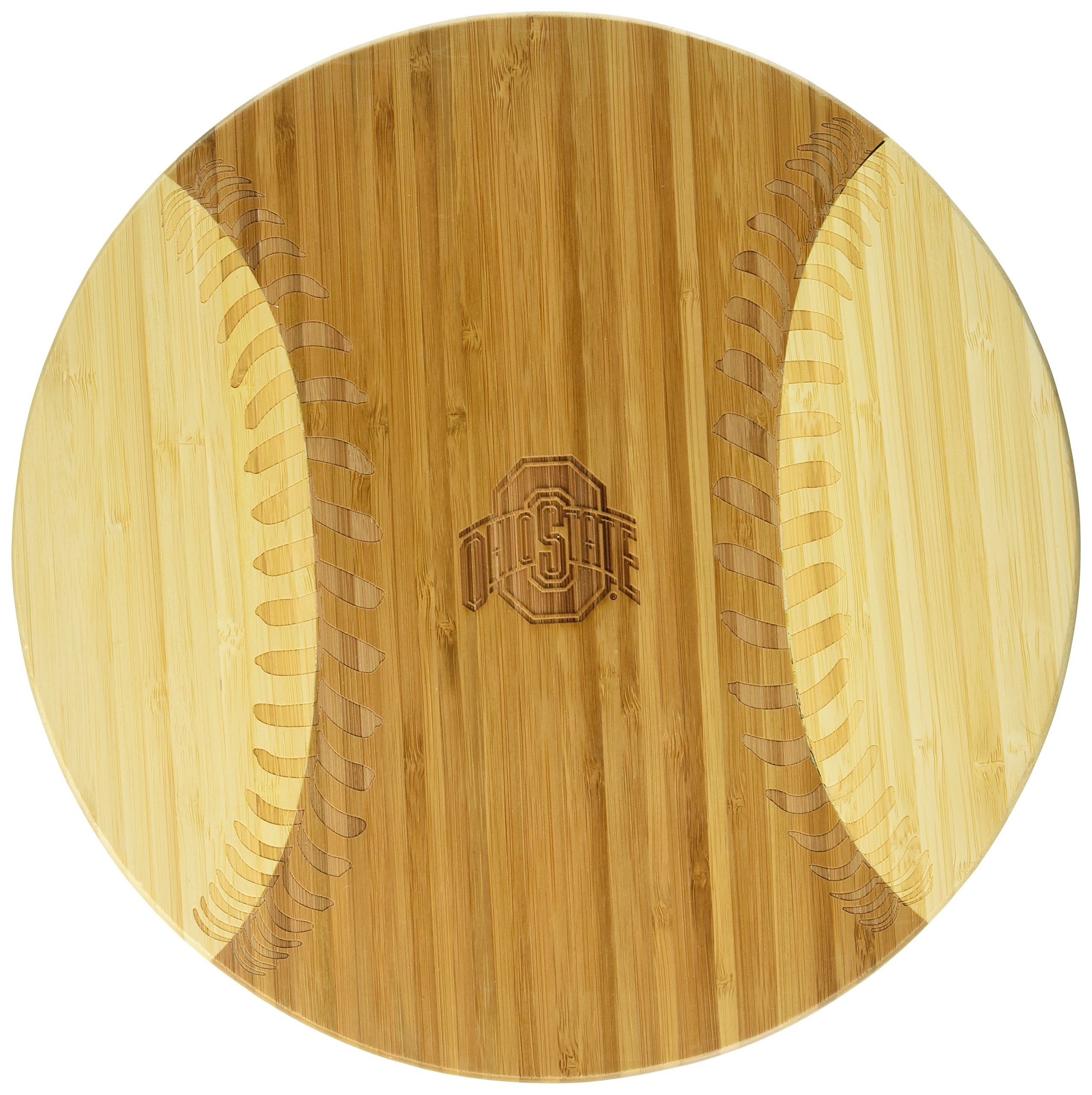NCAA Ohio State Buckeyes Homerun! Bamboo Cutting Board with Team Logo, 12-Inch by PICNIC TIME (Image #2)