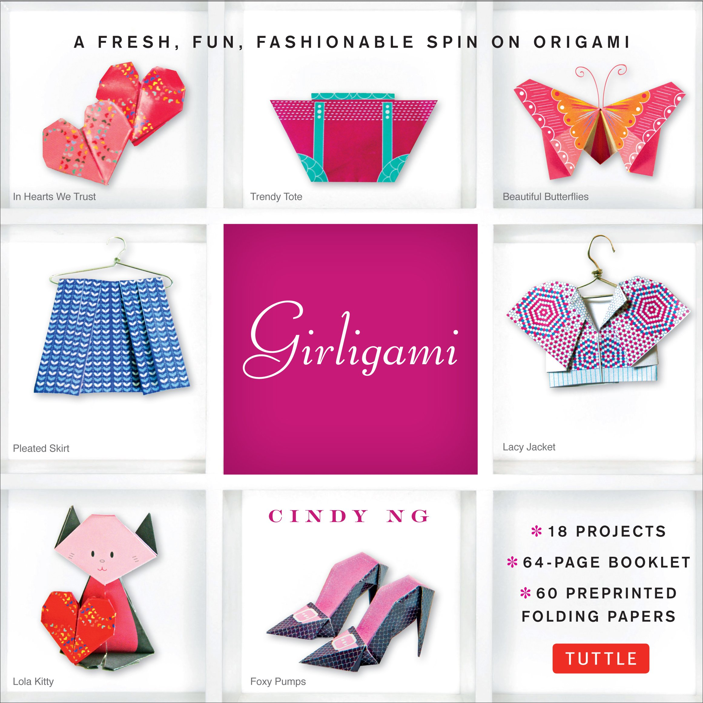Read Online Girligami Kit: A Fresh, Fun, Fashionable Spin on Origami: Origami for Girls Kit with Origami Book, 60 High-Quality Origami Papers: Great for Kids! pdf
