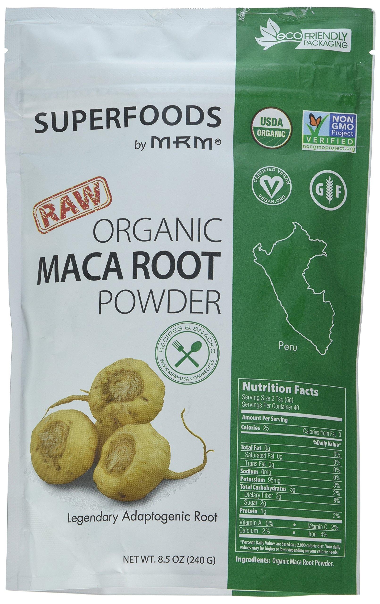 MRM - Maca Root Raw Superfood, Organic, Non-GMO Project Verified, Vegan and Gluten-Free (8.5 oz)