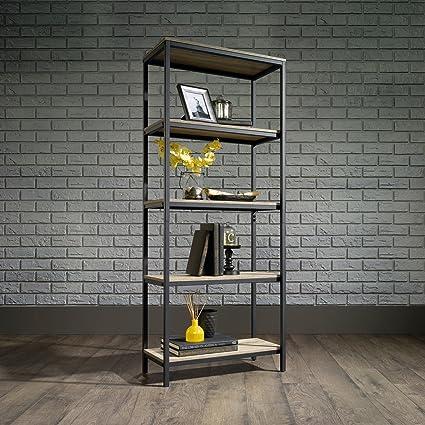 Laurel Foundry Modern Farmhouse Ermont 57quot Etagere Bookcase In Charter Oak Finish